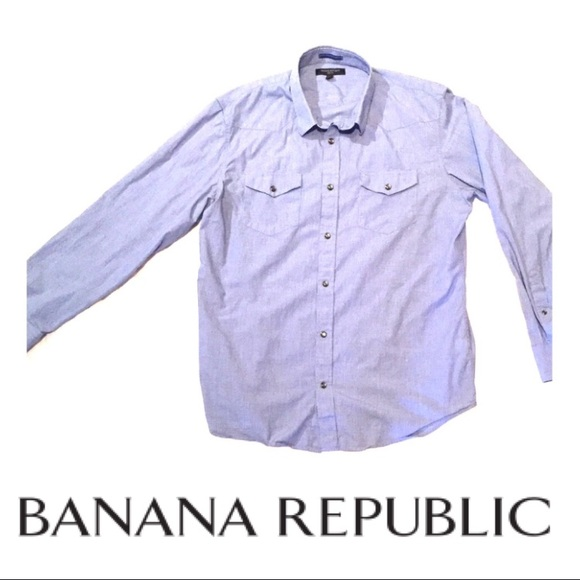 Banana Republic Other - Banana Republic Slim-Fit Snap Button Down Shirt